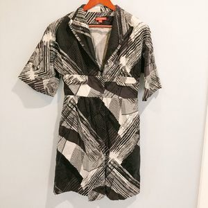 NY&C Collection Black Abstract Print Duster